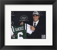 Framed Mark Sanchez 2009 Draft Day