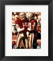 Framed Jerry Rice / Joe Montana - Group Shot  (#2)