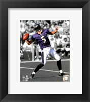 Framed Joe Flacco 2009 In the Spotlight Action
