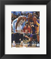 Framed Carmelo Anthony & Kobe Bryant 2008-09 Playoff Action