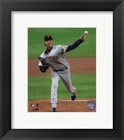 Framed Randy Johnson - 2009 Pitching Action