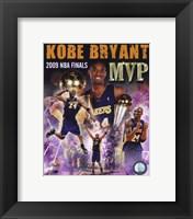 Framed Kobe Bryant -'09 Finals MVP Comp. (#34)