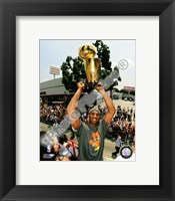 Framed Kobe Bryant 2009 NBA Championship Victory Parade  (#38)