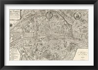 Framed Plan de la Ville de Paris, 1715