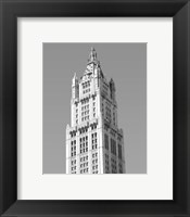Framed Woolworth Building, NY
