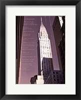 Framed Chrysler Building Architecture