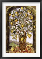 Lemon Branch Bouquet Framed Print