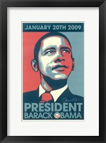 Framed Barack Obama - 2009 Inaugural Gallery Print - Matte Finish