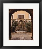 Framed Courtyard Clock