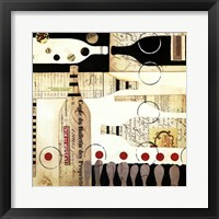 Framed Deco Vino I