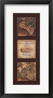Wine Country Panel I Framed Print