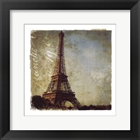 Golden Age of Paris I Framed Print