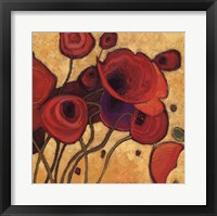 Poppies Wildly II Framed Print