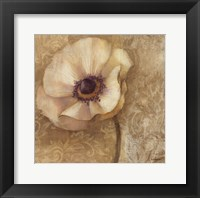 Brocade Poppy Framed Print