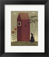 Framed Outhouse with Dog