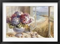 Framed Coastal Hydrangea