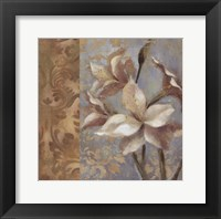 Amaryllis on Soft Blue Framed Print