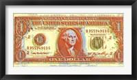 Dollar Bill Framed Print