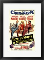 Framed How to Marry a Millionaire, c.1953 - style C