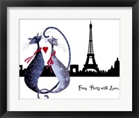 Framed From Paris with Love Catitudes
