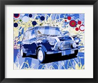 Framed Vintage Mini Cooper