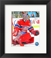 Framed Carey Price 2009-10 Action