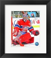 Framed Carey Price 2009-10 Action