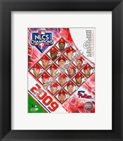 Framed 2009 Philadelphia Phillies National League Champions Team Composite