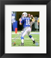 Framed Peyton Manning 2009 Action