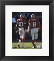 Framed Steve Young / Jerry Rice backs to camera