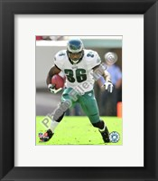 Framed Brian Westbrook 2009 Action