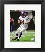 Framed Brett Favre 2009 Action