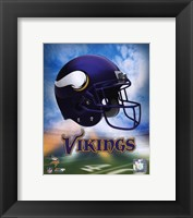 Framed 2009 Minnesota Vikings Team Logo