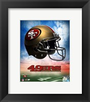 Framed 2009 San Francisco 49ers Team Logo