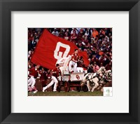 Framed Sooner Schooner Mascot of the Oklahoma Sooners 2007
