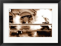 Framed Steam (Sepia)