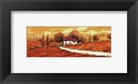 Framed Rosso Papavero