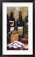 Wine Tasting Panel I Framed Print