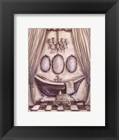 Charming Bath I Framed Print