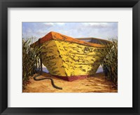 Framed Yellow & Orange Boat