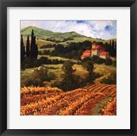 Framed Tuscan Monastery Amidst Autumn