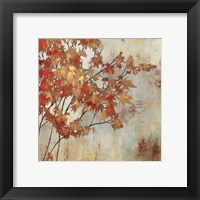 Golden Foilage Framed Print