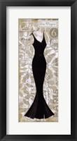Robe Noir I Framed Print