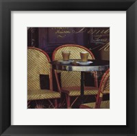 Parisian Cafe I Framed Print