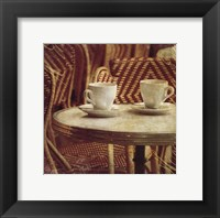 Parisian Cafe III Framed Print