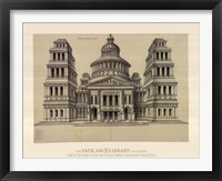 Framed Portail de Temple, (The Vatican Collection)