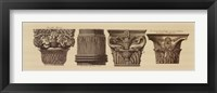 Framed Capitals I, (The Vatican Collection)