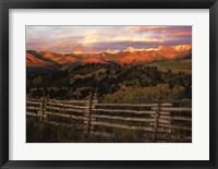 Framed Cimmaron Range Sunset
