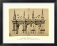 Facade avec Elephants, (The Vatican Collection) Framed Print