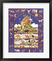 Framed Noah's Ark Alphabet